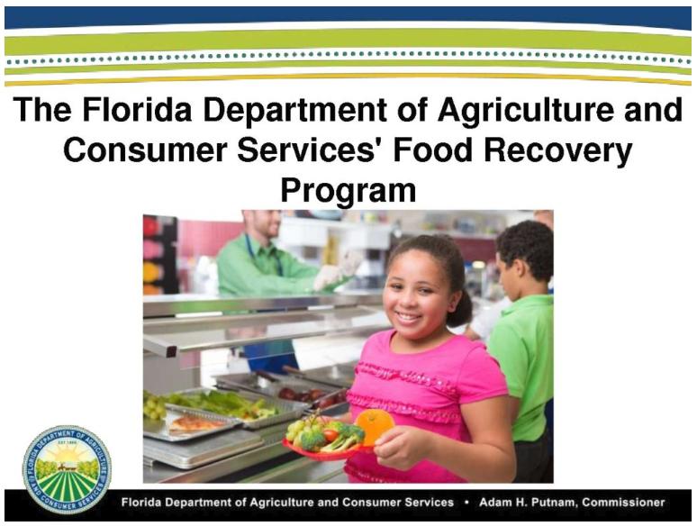 FDACS - RECYCLE FLORIDA TODAY